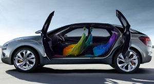 The 'trippy' concept Citroën Hypnos on view at the Paris Motor Show.