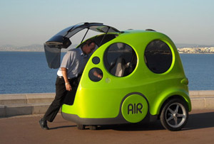 AIRPod - air car runs only on compressed air.