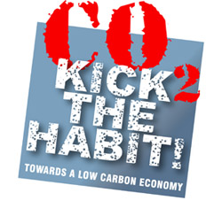 The motto for this year's World Environment Day- CO2 Kick the Habit!