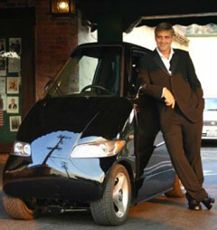 George Clooney and his black Tango 600.