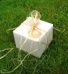 Green events start right at decisions about invitations and wrapping for gifts.