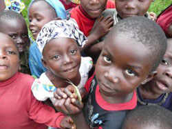 Happy children - the result of clean drinking water, through the efforts of the H2O Africa Foundation.