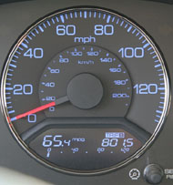 Hybrid car mileage is displayed on the dashboard of every hybrid car, making it hard to ignore!