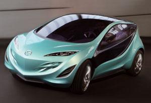 The sleek a nd stylish Mazda Kiyora concept car.