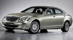 The luxury hybrid Mercedes S400 Blue Hybrid
