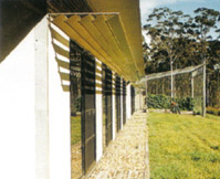 Access to sunlight and shading when required- passive solar design in action.