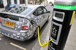 Plug in Prius (PHV)- the electric hybrid has hit the streets of London as part of a year-long test.