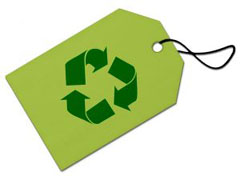 The most commonly recognised recycling symbol.