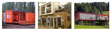 An example of some shipping container homes, from basic right up to architectural designs.