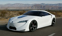 The Toyota FT-HS concept car, could be the new Supra, all with hybrid technology.