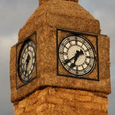 Big Ben recreated in straw to celebrate 150 years.