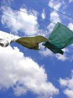 All natural cleaning supplies and drying your washing naturally in the sun will help for allergy sufferers.
