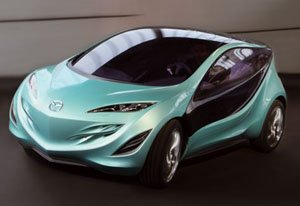The sleek a nd stylish Mazda Kiyora concept car.