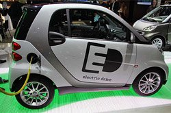 New Smart ED electric car currently being road-tested in London.