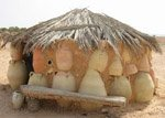 Simple solar passive principles at work in this traditional pottery hut.