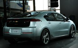 The rear view of the production Chevy Volt.